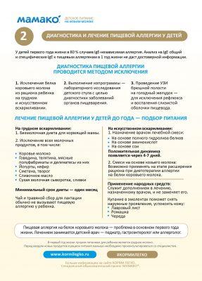Диагностика и лечение пищевой аллергии
